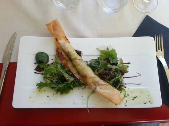 Aux Tours De La Perot (Maître Restaurateur) : Croustillant de chévre