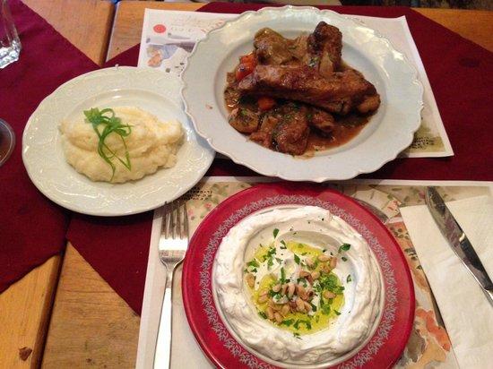 Barood: delicious dinner - not kosher.