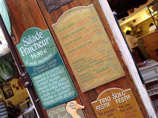 jacquou le croquant: Le menu de Jacquou.