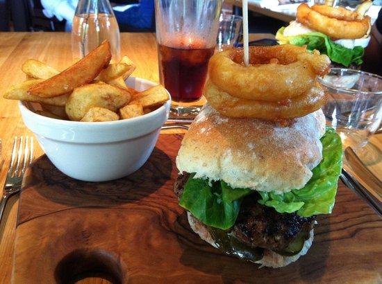 British Larder Suffolk: Venison burger £13