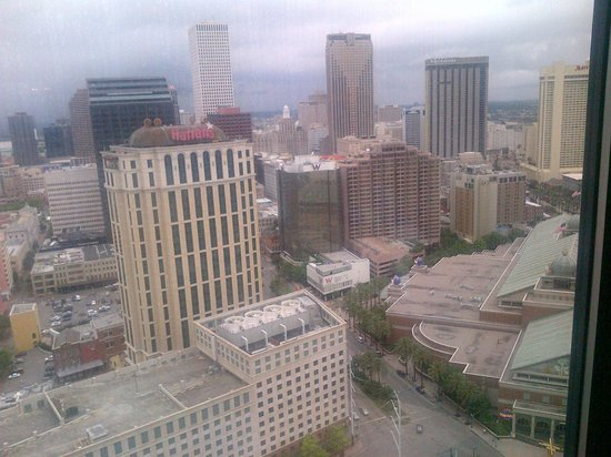 Hilton New Orleans Riverside: View from the Executive Level Lounge 27th Floor!