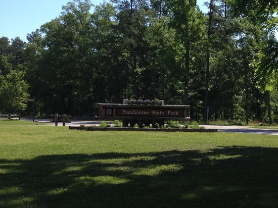 Pocahontas State Park: The sign as you exit
