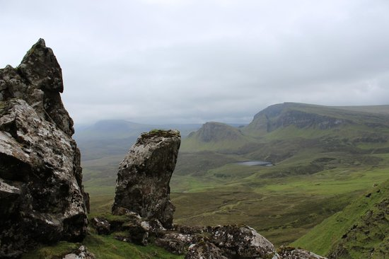 Quiraing: View back from the Prisoner to the South (start)