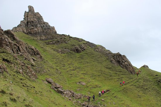 Quiraing: Example of the path and terrain