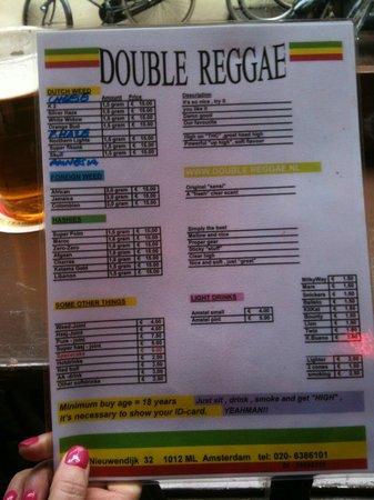 Double Reggae: Nice well explained menu