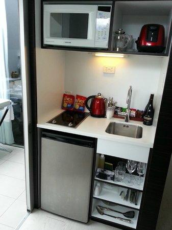 Queenstown Park Boutique Hotel: Useful little kitchen