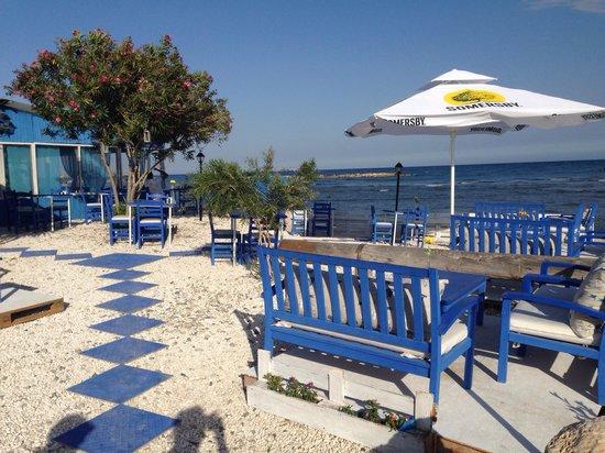 Mer Bleue Beach Restaurant: Lovely seating area