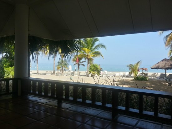Couples Swept Away: View from our room's patio