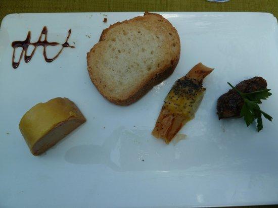 Au relais d'Artemis: entrée foie gras