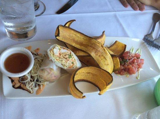 Chart House Restaurant: Tartar de atum e spring roll de lagosta