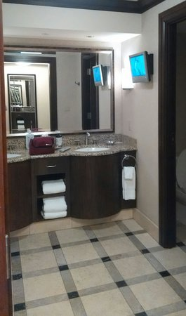 Ameristar Casino Resort Spa St. Charles: everyone needs a TV in the bathroom