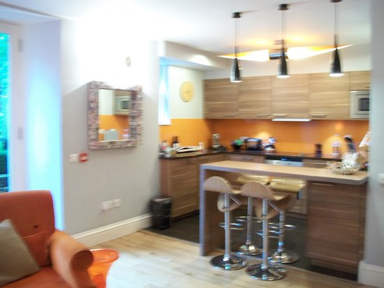 The Rutland Hotel: kitchen (sorry blurry - but you get the idea)