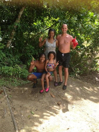 One Love Jamaica Tours: having a great time at the Blue Hole