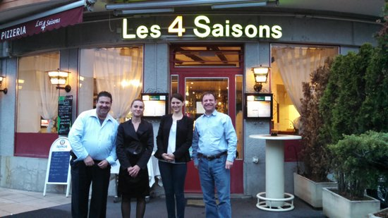 Restaurant Les 4 Saisons: My colleague and I with the management
