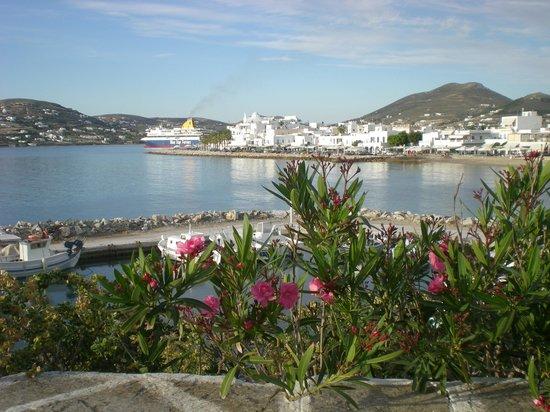 Pandrossos Hotel: vue sur le port