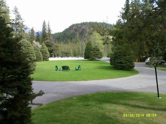 Alpine Village Cabin Resort - Jasper: View from Cabin #16-Family Deluxe.