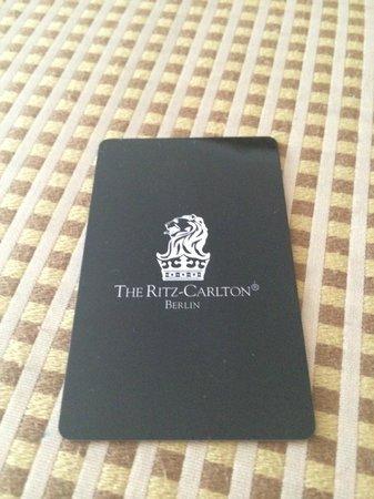 The Ritz-Carlton, Berlin: Room key