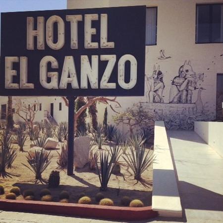 Hotel El Ganzo: entrada