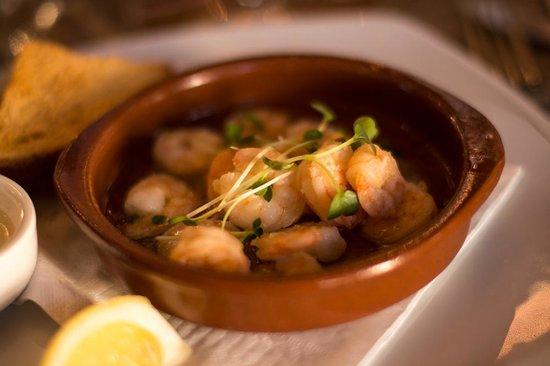 Humphrey's Amersfoort: Garlic prawns (starter)