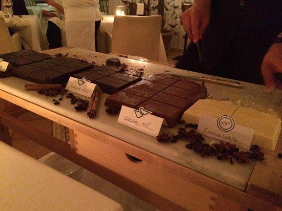 Vari tipi di cioccolato - Picture of Hotel Il Pellicano
