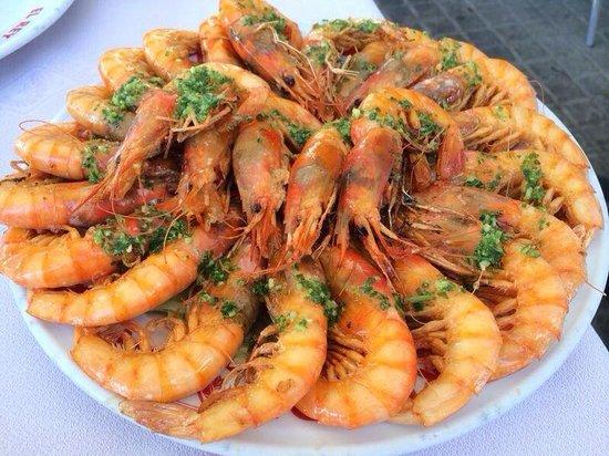 Restaurante El Rey de la Gamba Puerto Olimpico: Camarão dos Deuses!