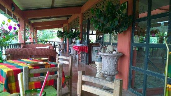 Vallarta Botanical Gardens: Restaurant Balcony