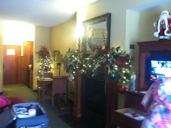The Inn at Christmas Place: View of the room.