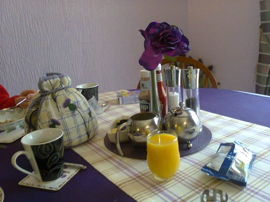 Springburn Bed & Breakfast: Breakfast Table and TeaOT,Coffee was Acceptable and not MUD