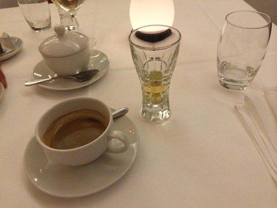 Ristorante Peppone: Coffee and Grappa