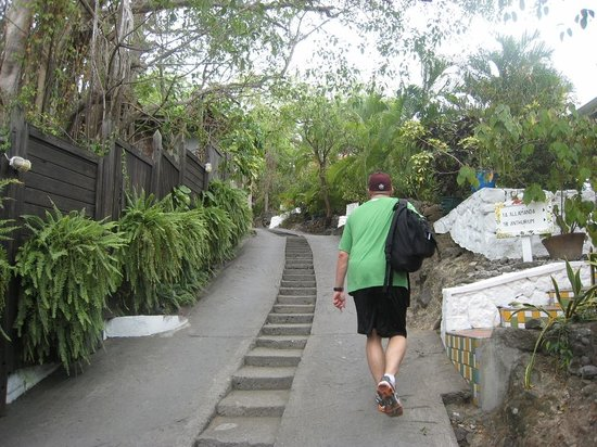 Anse Chastanet: Hills that are really steep