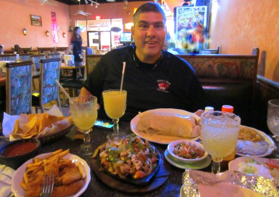 Pedro With The Food Picture Of La Nopalera Mexican Restaurant