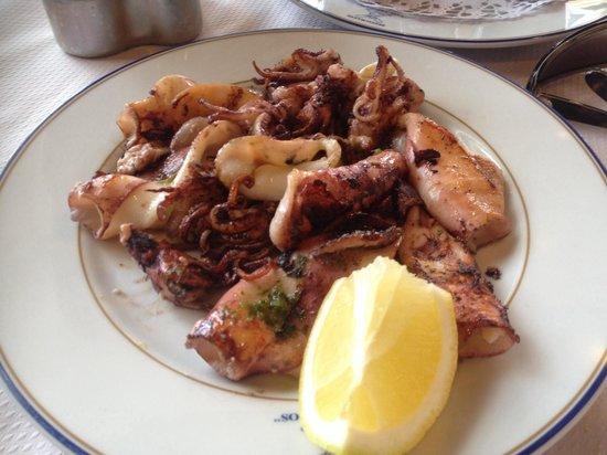Restaurante Los Abrigos: Pesce alla plancia