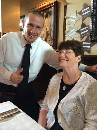 Maggiano's Little Italy: Jake, our server (not State Farm), adds to our lunch enjoyment.