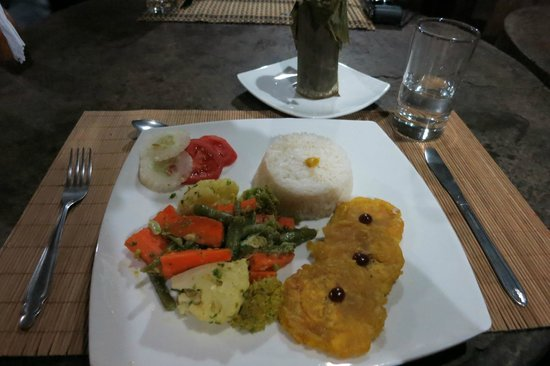 Wasai Tambopata Lodge : Vegetarian dinner