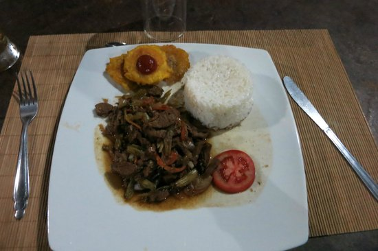 Wasai Tambopata Lodge: Vegetarian dinner