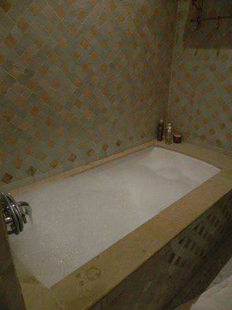 Palais de l'O: Superbe salle de bain, avec beignoir et douche italienne