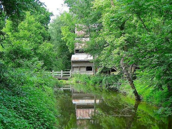 West Point on the Eno: reflection of the mill