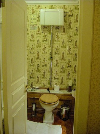 Schoolhouse Hotel: Old fashioned toilet