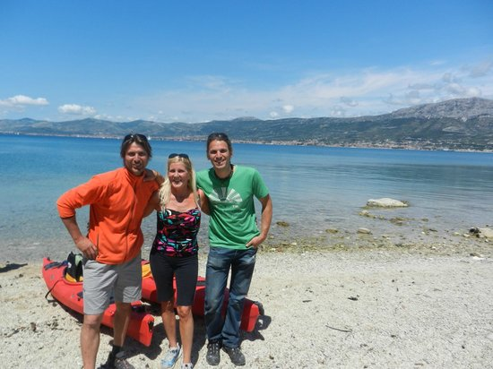 Red Adventures Croatia: Me with Drazen and Dejan