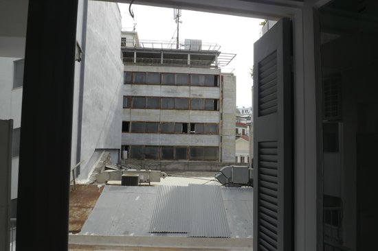 """AthenStyle Hostel: View from the so-called """"new room"""""""