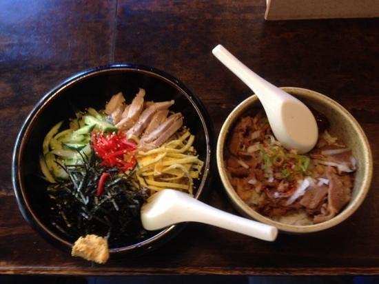 Ramen Setagaya: 冷し中華、豚丼