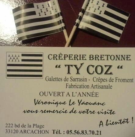 Creperie Bretonne Ty Coz Toutes Les Infos Sur La Carte De Visite