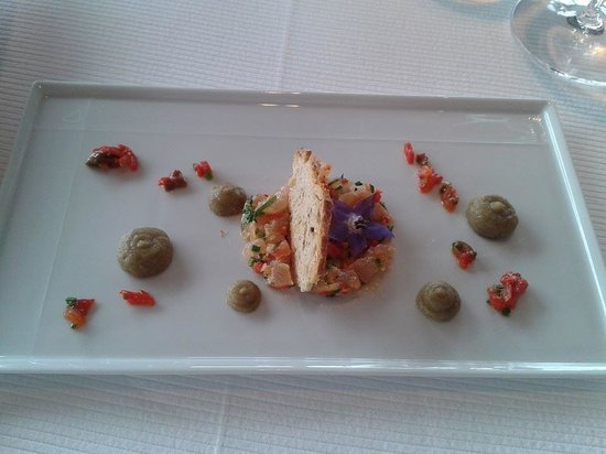 Restaurant Christopher Coutanceau : Smoked salmon amuse bouche