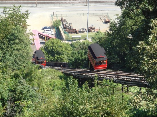 Duquesne Incline: Long way down......