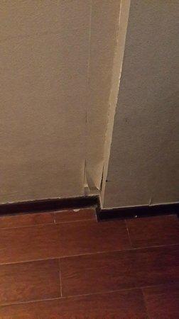 New Century Manju Hotel (Luoshan): peeling wallpaper