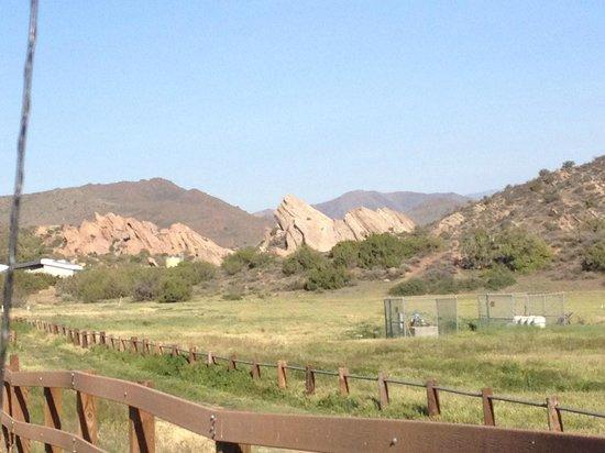Vasquez Rocks Natural Area : Leaving the park
