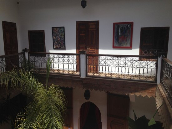 Riad Limouna: Art works from the second level.