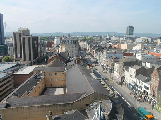 Clayton Hotel, BW Premier Collection: Cardiff City Centre from the 10th floor.