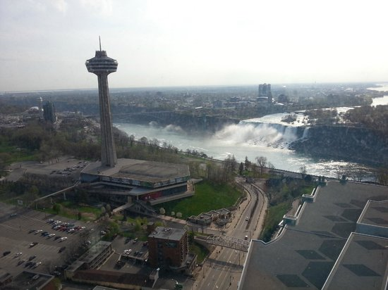 Hilton Niagara Falls/Fallsview Hotel & Suites : panorama dalla camera