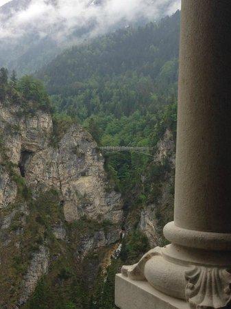 Gray Line München: View of Mary's Bridge from inside Neuschwanstein